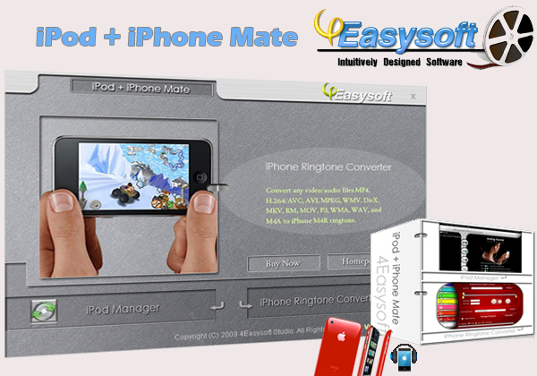 How to transfer iPod/iPhone files and make iPhone Ringtone Ipod-iphone-mate
