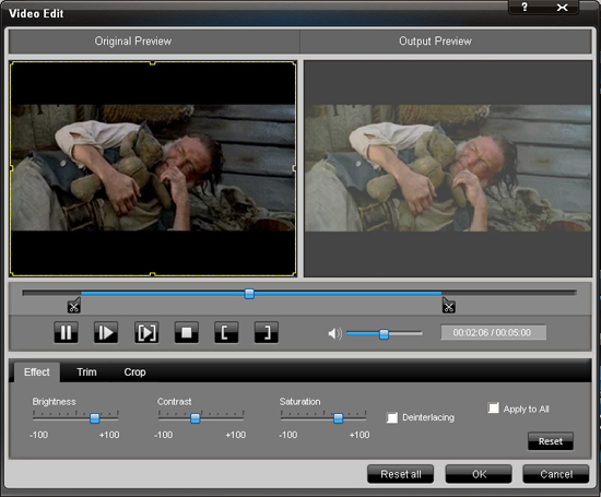 An easy way to convert Mod video to MP4 Effect