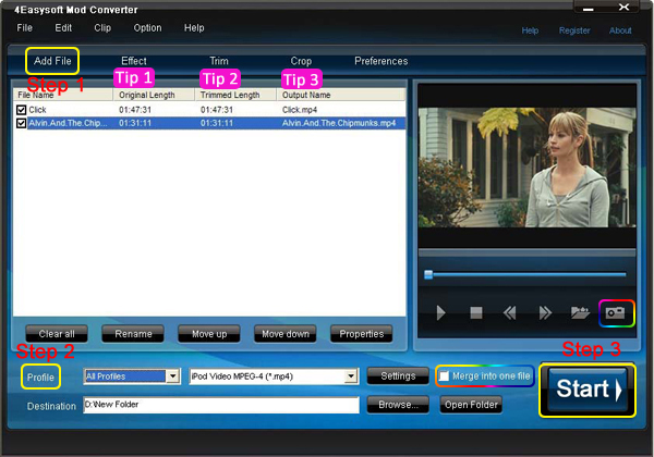 How to Convert Mod/Tod Videos both for Windows and Mac Users Screen