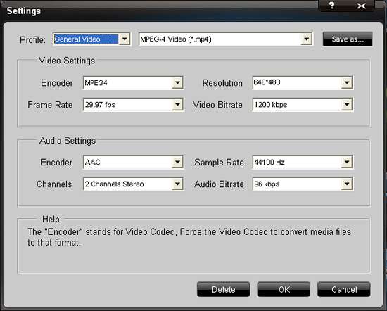 How to convert video to iPad/iPod/iPhone 4 Setting