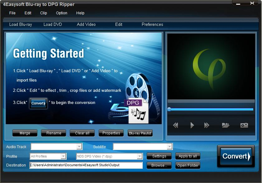 Click to view 4Easysoft Blu-ray to DPG Ripper screenshots