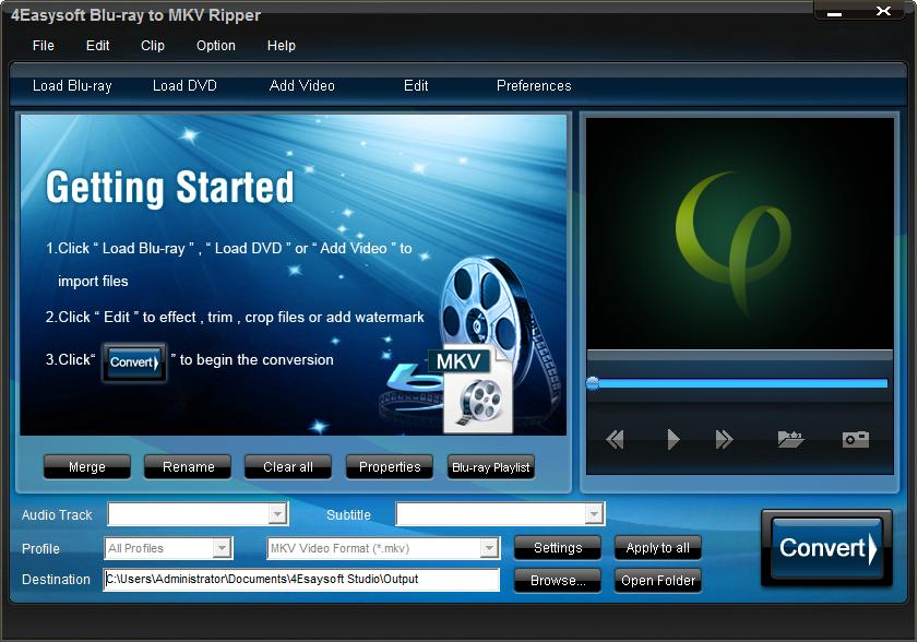 Click to view 4Easysoft Blu-ray to MKV Ripper screenshots