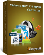 4Easysoft Video to MOV AVI MPEG Converter