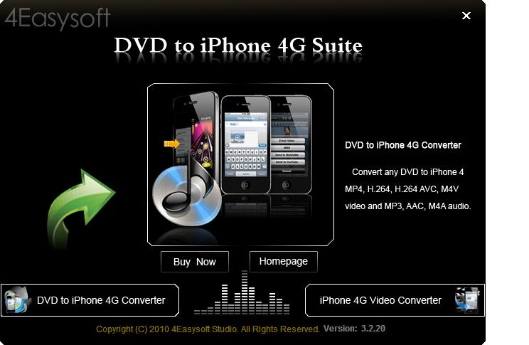 Click to view 4Easysoft DVD to iPhone 4G Suite screenshots