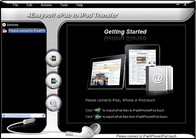 A multifunctional ePub to iPad Transfer.