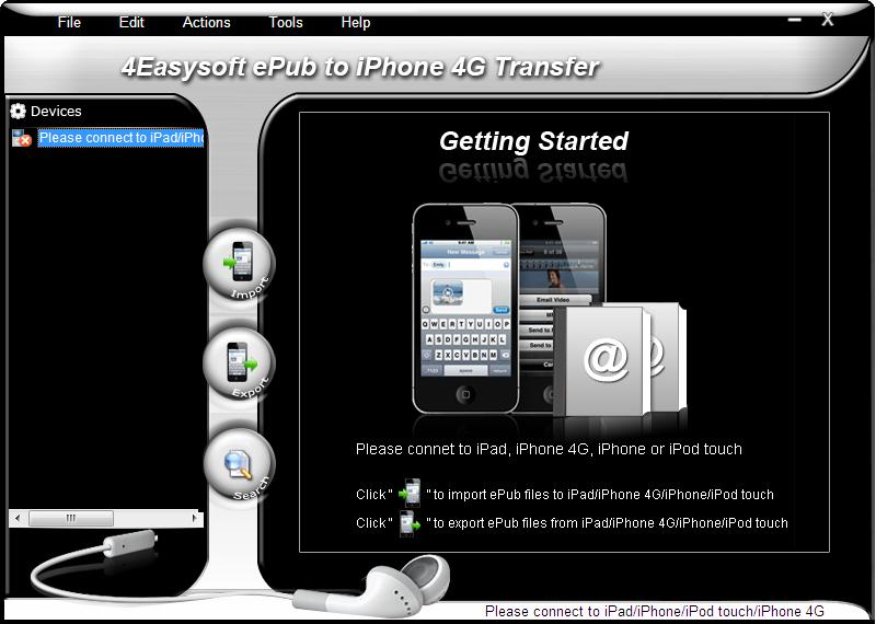 Click to view 4Easysoft ePub to iPhone 4G Transfer screenshots