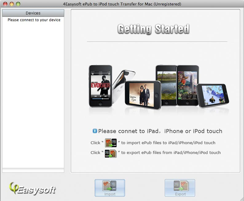 4Easysoft Mac ePub to iPod Transfer screenshot