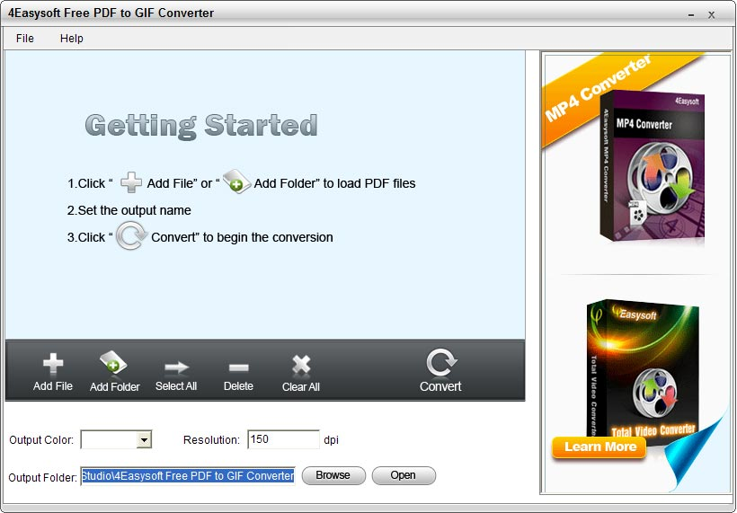 Click to view 4Easysoft Free PDF to GIF Converter screenshots
