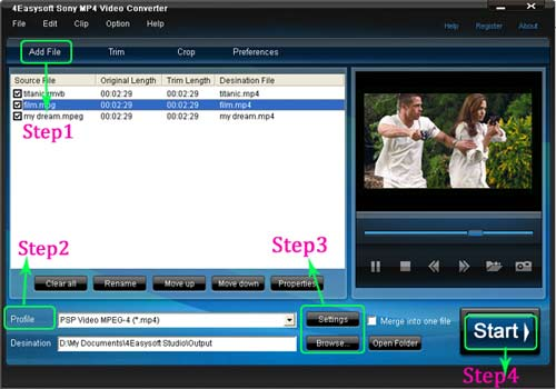 convert videos to sony mp4