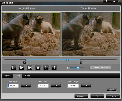 Total video converter trim