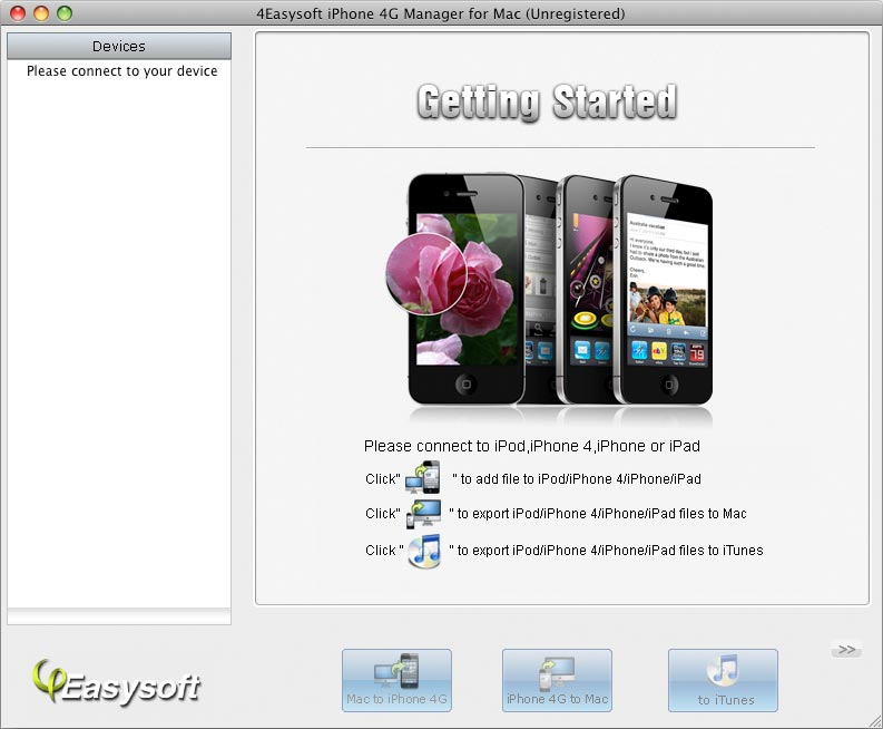 All-in-one iPhone 4G Manager for Mac.