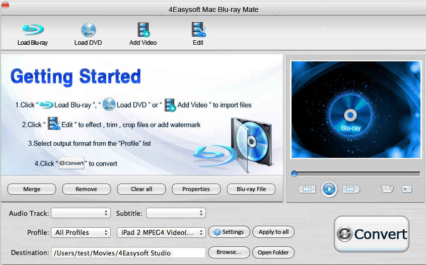 4Easysoft Mac Blu-ray Mate screenshot