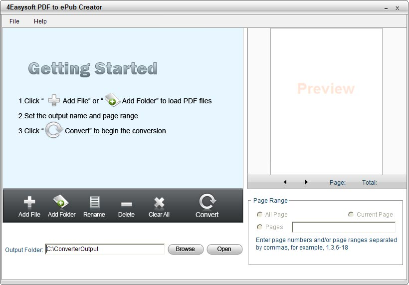 4Easysoft PDF to ePub Creator screenshot