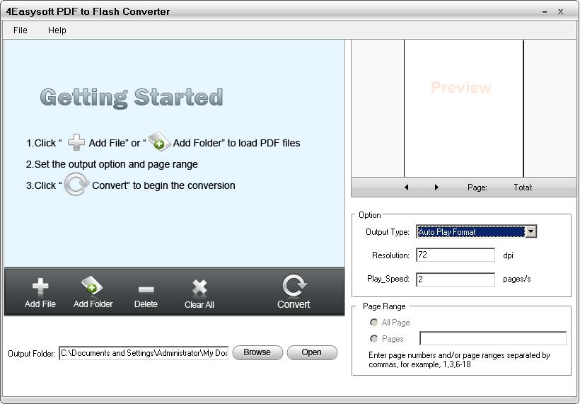 4Easysoft PDF to Flash Converter screenshot