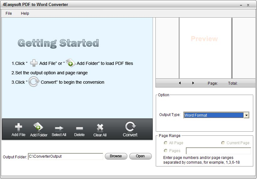4Easysoft PDF to Word Converter screenshot