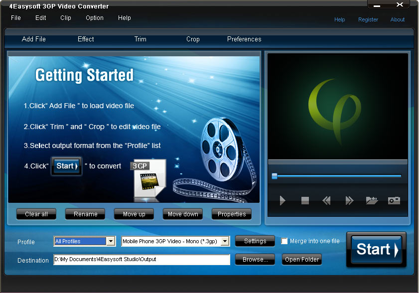 Click to view 4Easysoft 3GP Video Converter screenshots