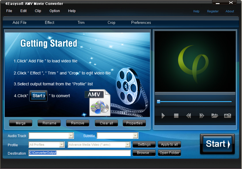 4Easysoft AMV Movie Converter Screen shot