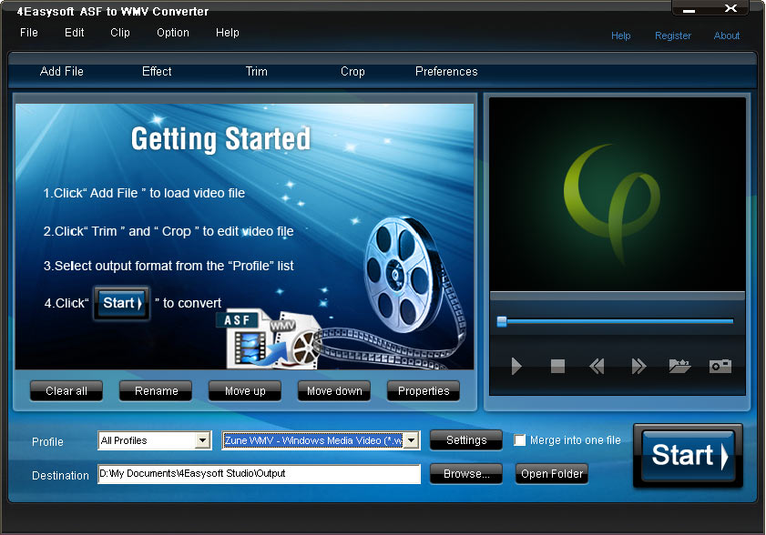 Click to view 4Easysoft ASF to WMV Converter 3.1.18 screenshot