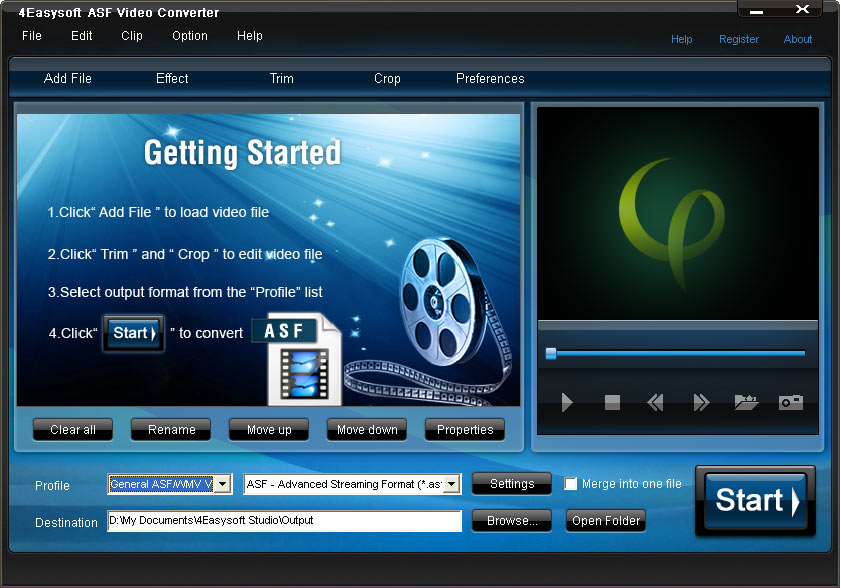 Click to view 4Easysoft ASF Video Converter screenshots
