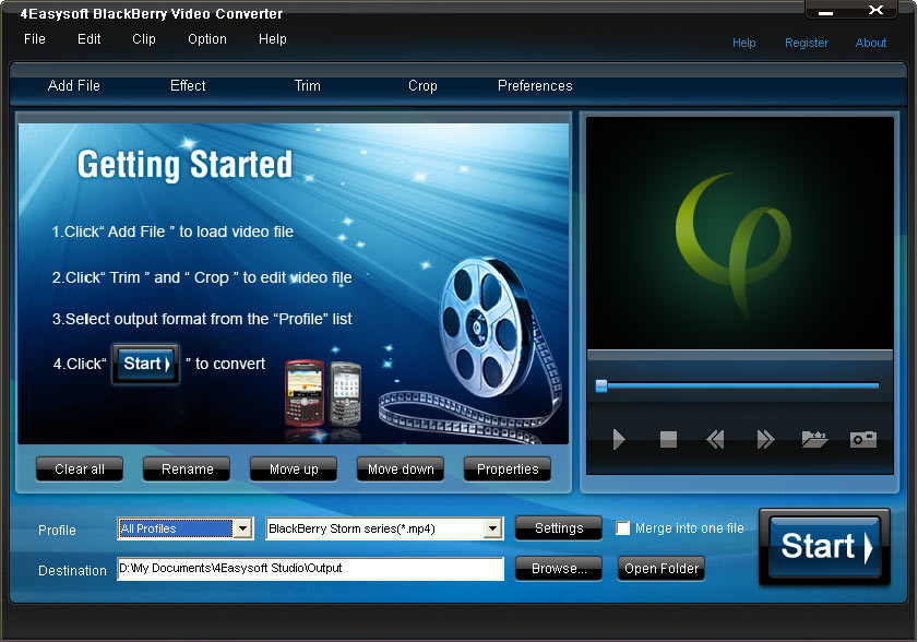 4Easysoft BlackBerry Video Converter screenshot