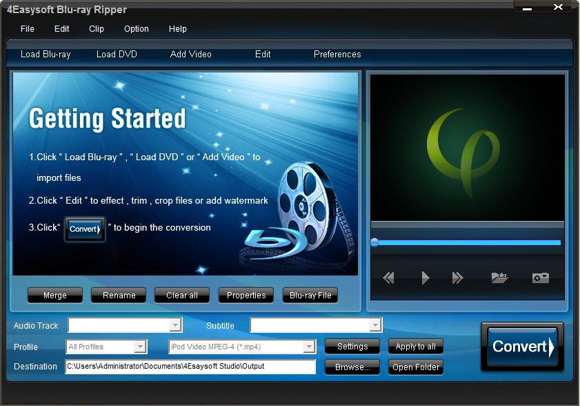 4Easysoft Blu Ray Ripper Screen shot