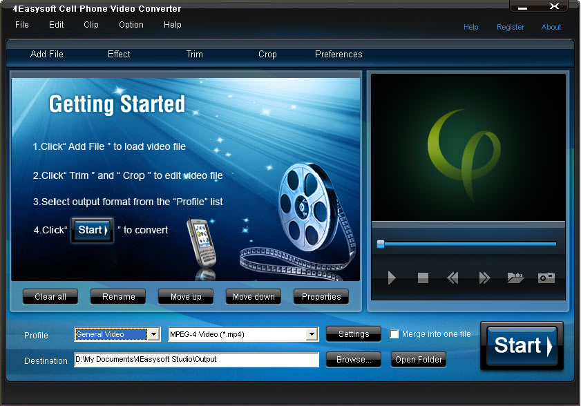4Easysoft Cell Phone Video Converter screenshot