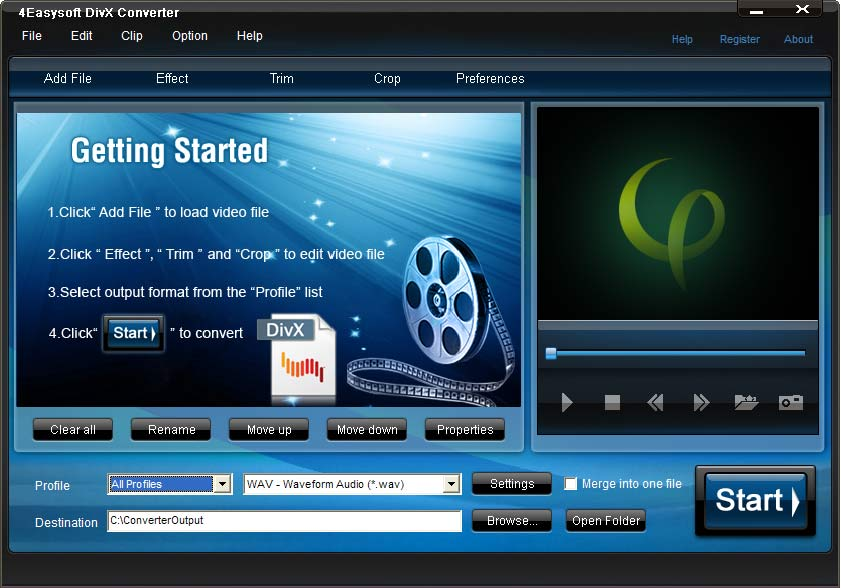 Click to view 4Easysoft DivX Converter screenshots