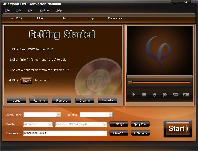 4Easysoft DVD Converter Platinum Screen shot