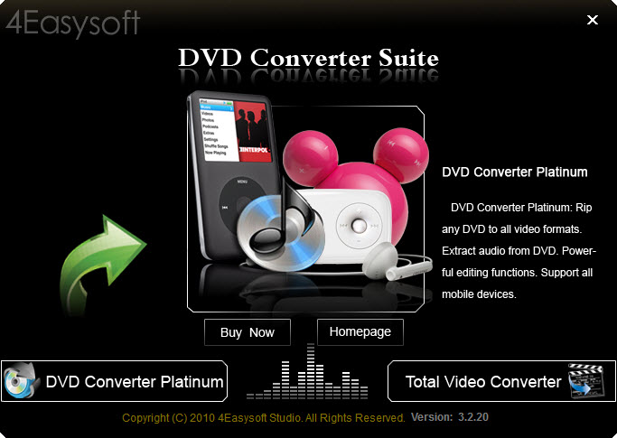 4Easysoft DVD Converter Suite Screen shot