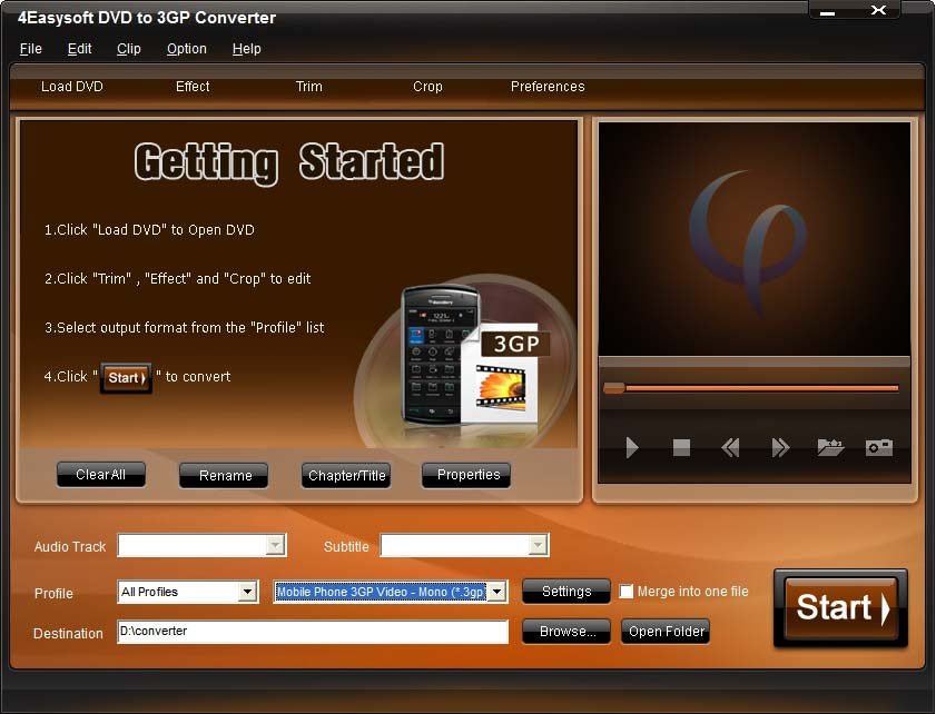 4Easysoft DVD to 3GP Converter