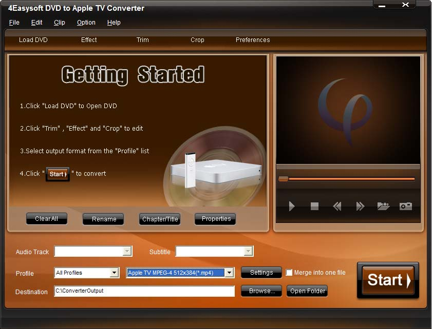 4Easysoft DVD to Apple TV Converter
