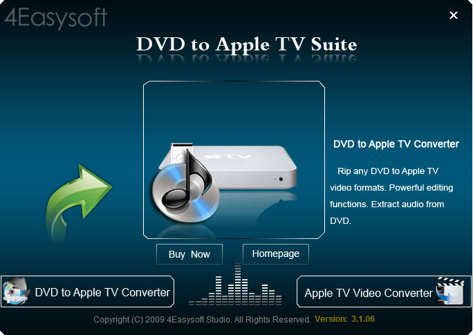 Click to view 4Easysoft DVD to Apple TV Suite screenshots