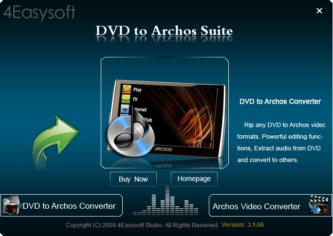 4Easysoft DVD to Archos Suite Screen shot