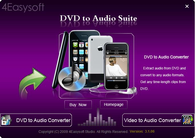 Click to view 4Easysoft DVD to Audio Suite screenshots