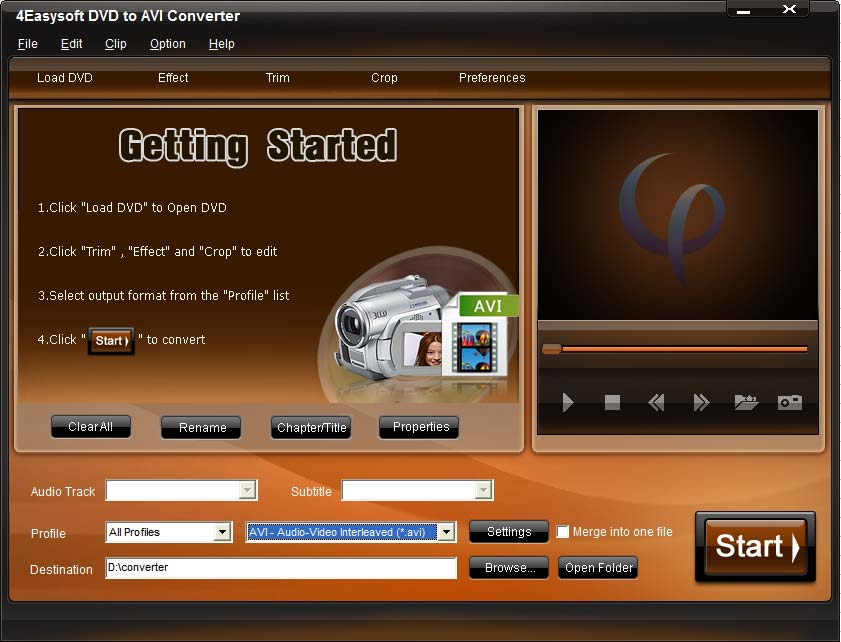Click to view 4Easysoft DVD to AVI Converter screenshots