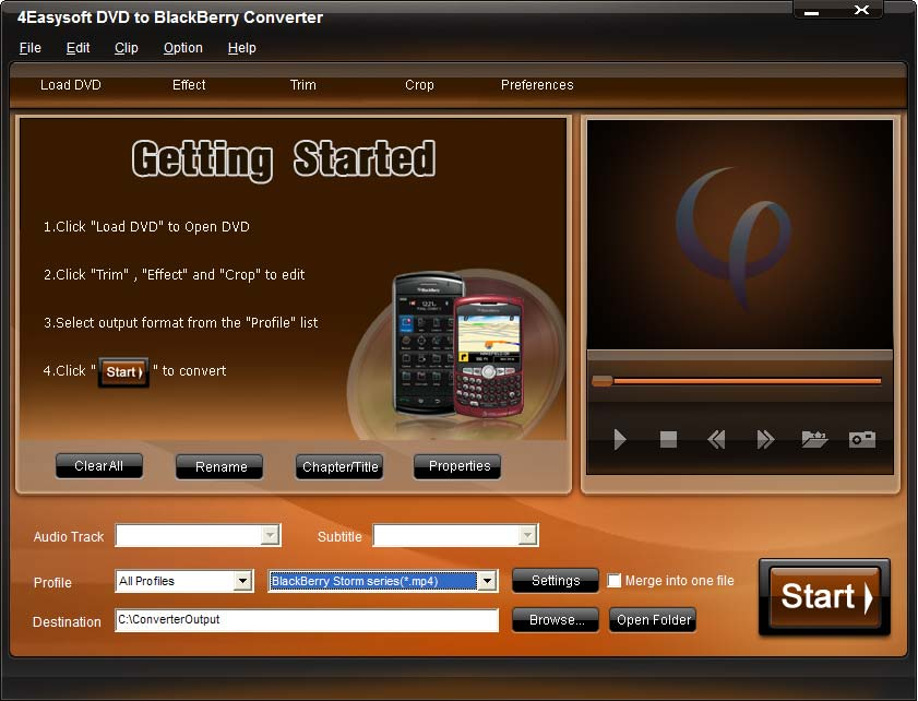 Click to view 4Easysoft DVD to BlackBerry Converter screenshots