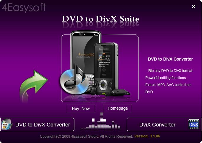 Click to view 4Easysoft DVD to DivX Suite screenshots