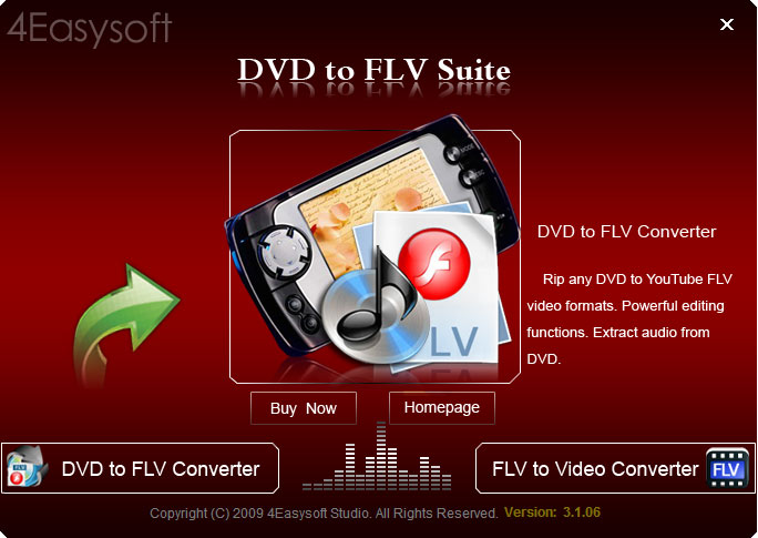 Click to view 4Easysoft DVD to FLV Suite 3.1.12 screenshot