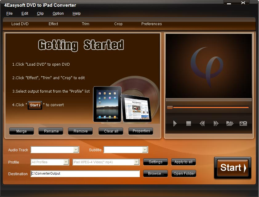 Click to view 4Easysoft DVD to iPad Converter screenshots