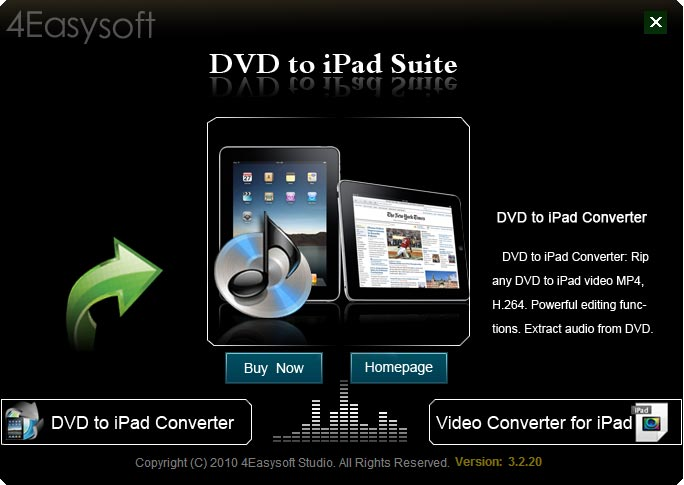 Click to view 4Easysoft DVD to iPad Suite screenshots
