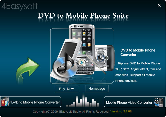 Free download 4Easysoft DVD to Mobile Phone Suite