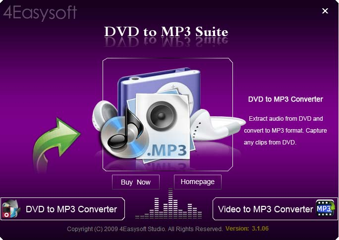 Click to view 4Easysoft DVD to MP3 Suite screenshots