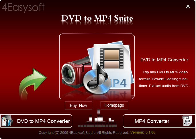 Screenshot of 4Easysoft DVD to MP4 Suite