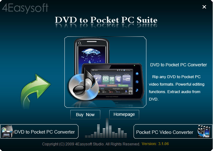 All-in-one DVD to Pocket PC converter.