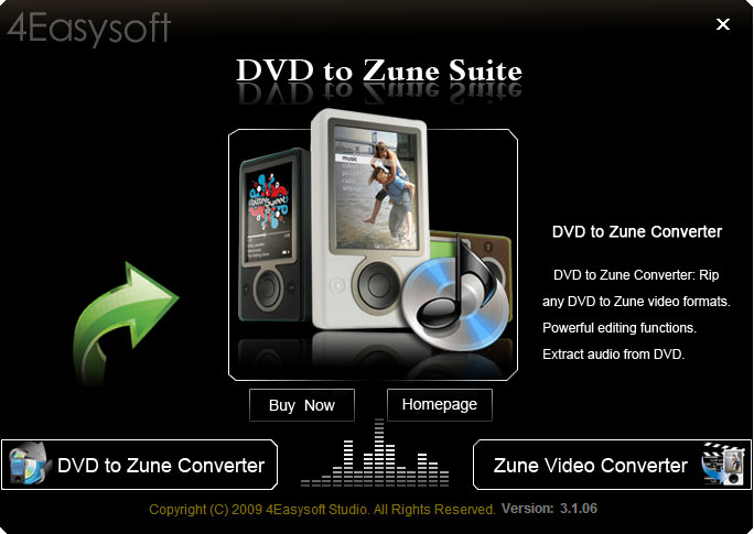 Click to view 4Easysoft DVD to Zune Suite screenshots
