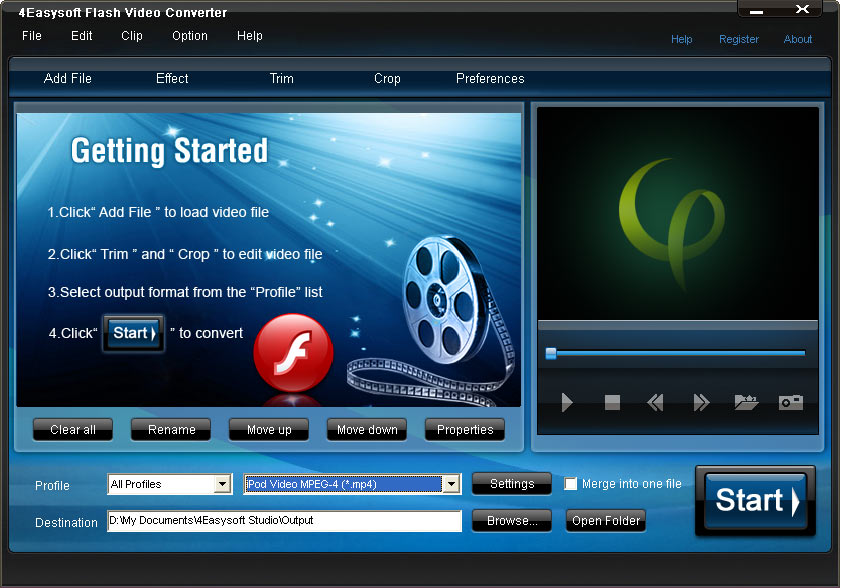 Click to view 4Easysoft Flash Video Converter screenshots