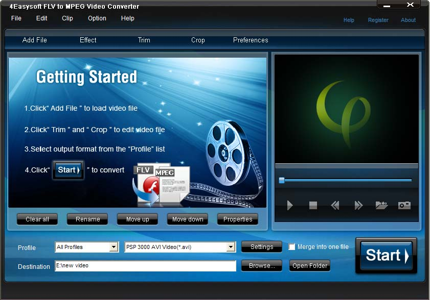 4Easysoft FLV to MPEG Video Converter 3.1.18