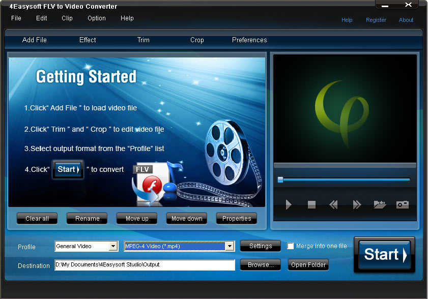 Click to view 4Easysoft FLV to Video Converter 3.1.26 screenshot