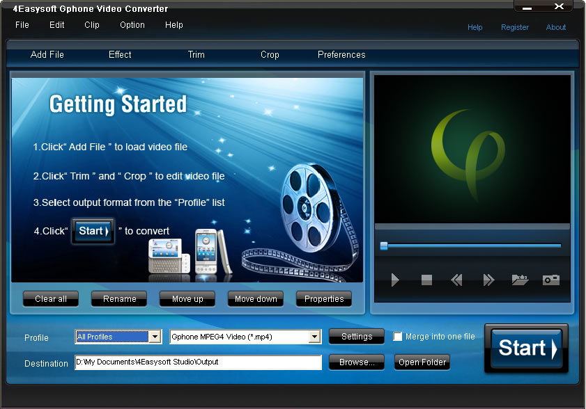 Click to view 4Easysoft Gphone Video Converter screenshots