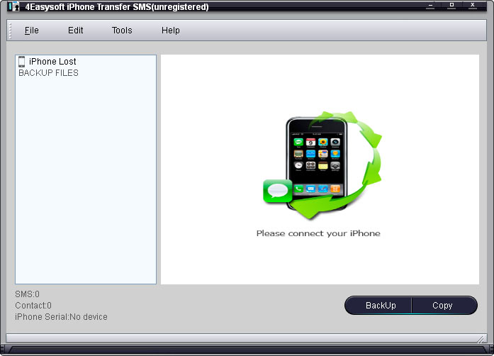 Click to view 4Easysoft iPhone Transfer SMS screenshots